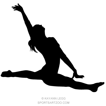 how to draw a girl doing the splits female gymnast silhouette executing a split female splits girl how the to draw a doing