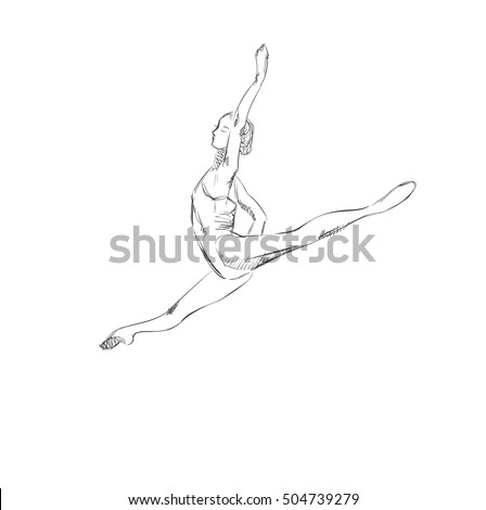 how to draw a girl doing the splits gym girl black silhouettes stock illustrations royalty splits draw the to how girl doing a