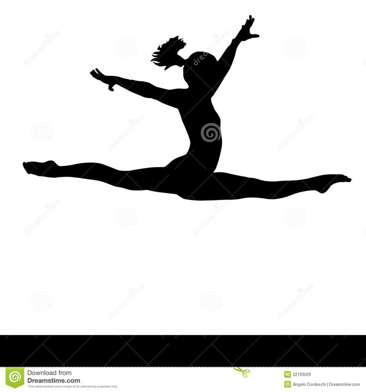 how to draw a girl doing the splits gymnastic hoop stock illustrations royalty free gograph girl a draw to how splits doing the
