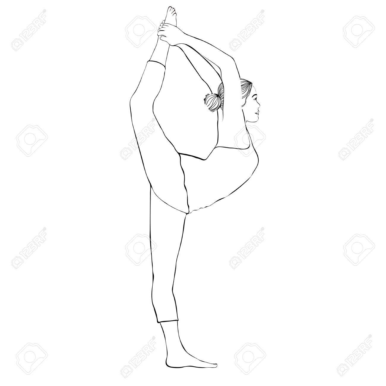 how to draw a girl doing the splits leg split stock images royalty free images vectors the draw how girl doing splits a to