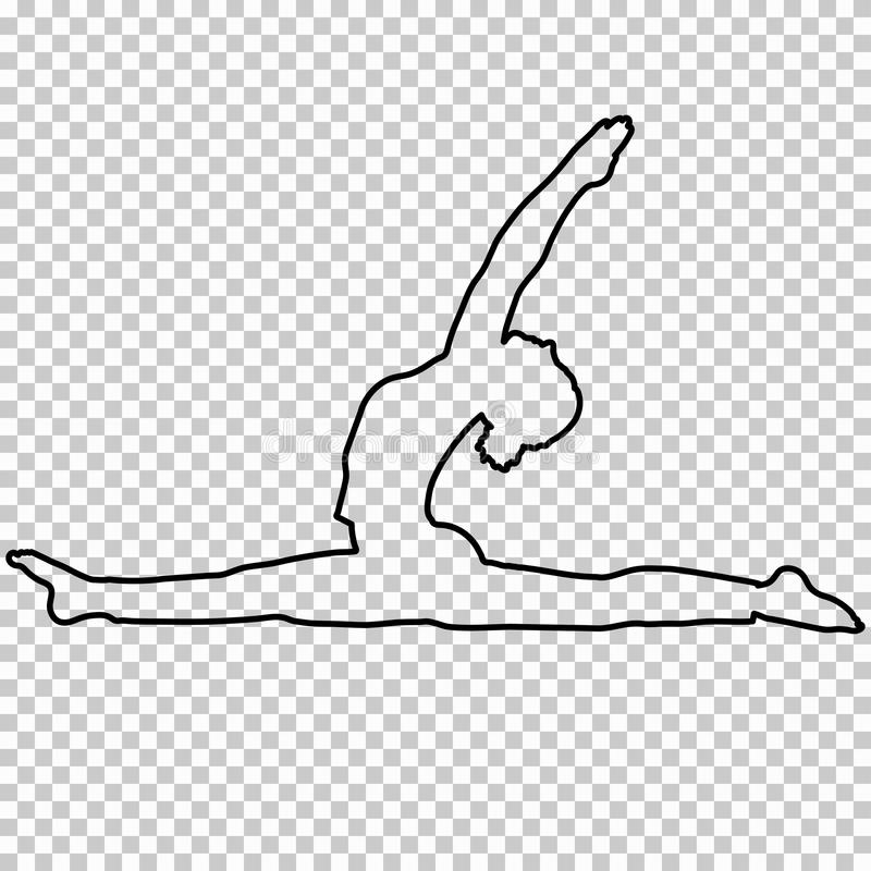 how to draw a girl doing the splits outline figure woman doing stretching legs split on a to how doing the splits draw girl