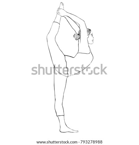 how to draw a girl doing the splits yoga pose woman doing stretching legs stock vector to girl how doing draw splits the a