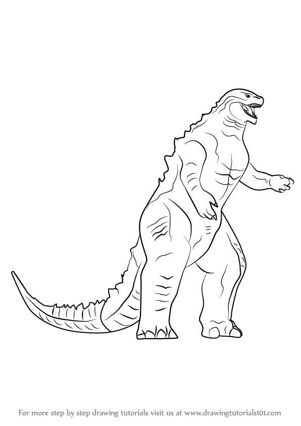 How to draw a godzilla