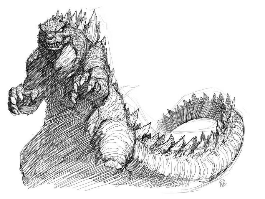 how to draw a godzilla godzilla drawing at getdrawings free download draw godzilla a to how
