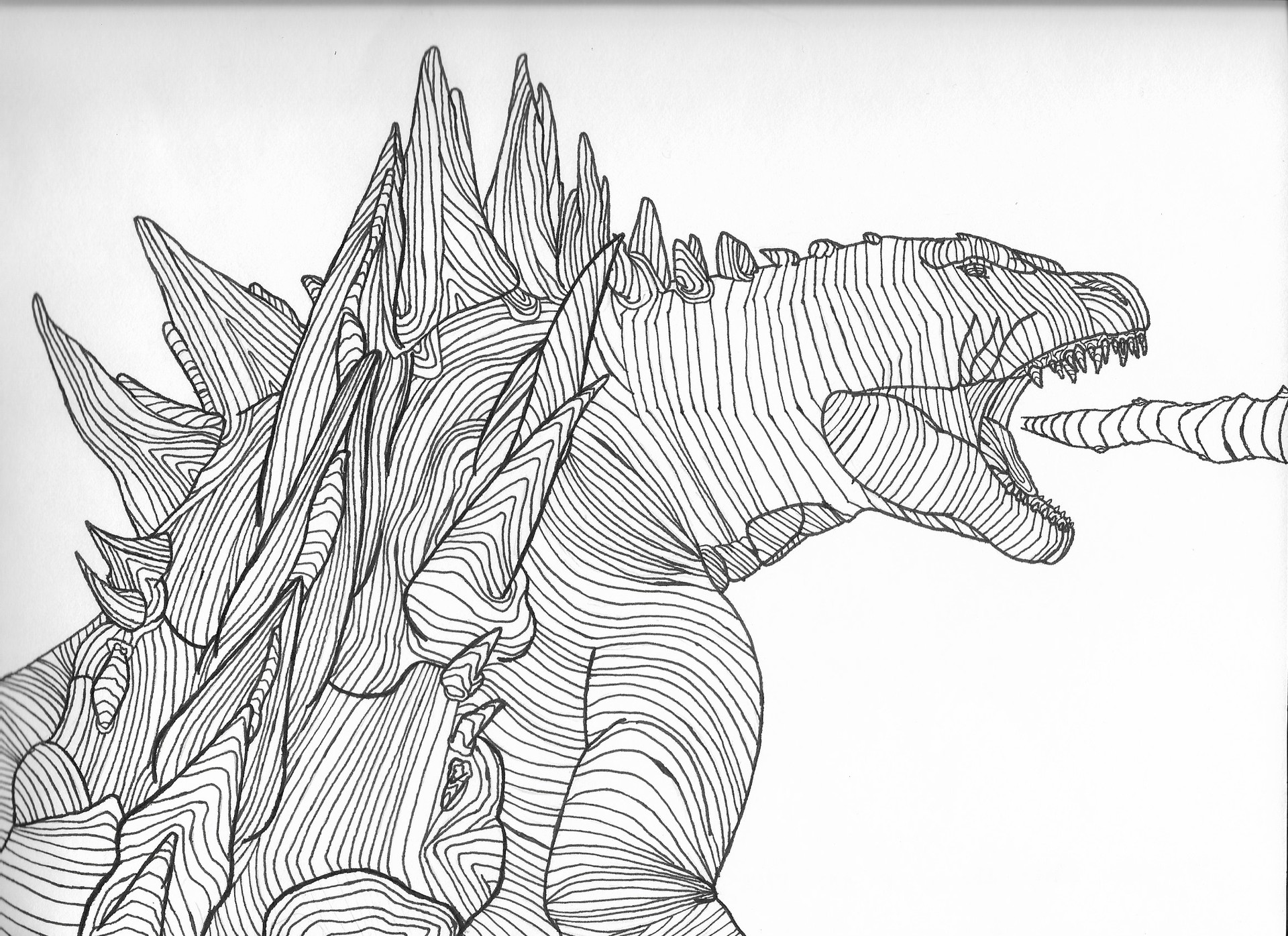 how to draw a godzilla godzilla sketch by sawuinhaff on deviantart a how to godzilla draw