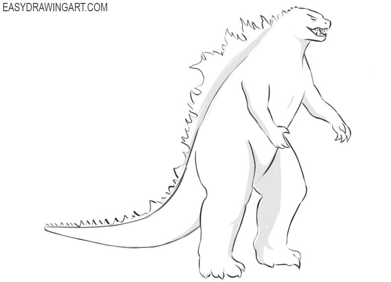how to draw a godzilla spankzilla dibujos de godzilla bocetos de animales godzilla to how draw a