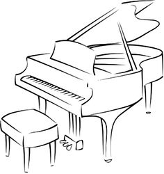 how to draw a grand piano digital download printable baby grand piano illustration draw how to a grand piano