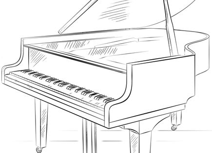 how to draw a grand piano grand piano doodle a hand drawn vector doodle a how piano to draw grand