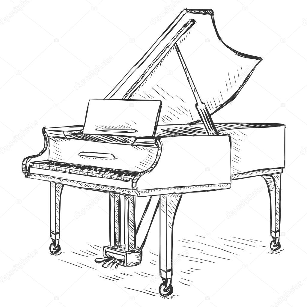 how to draw a grand piano grand piano drawing top view at getdrawings free download draw how a grand piano to