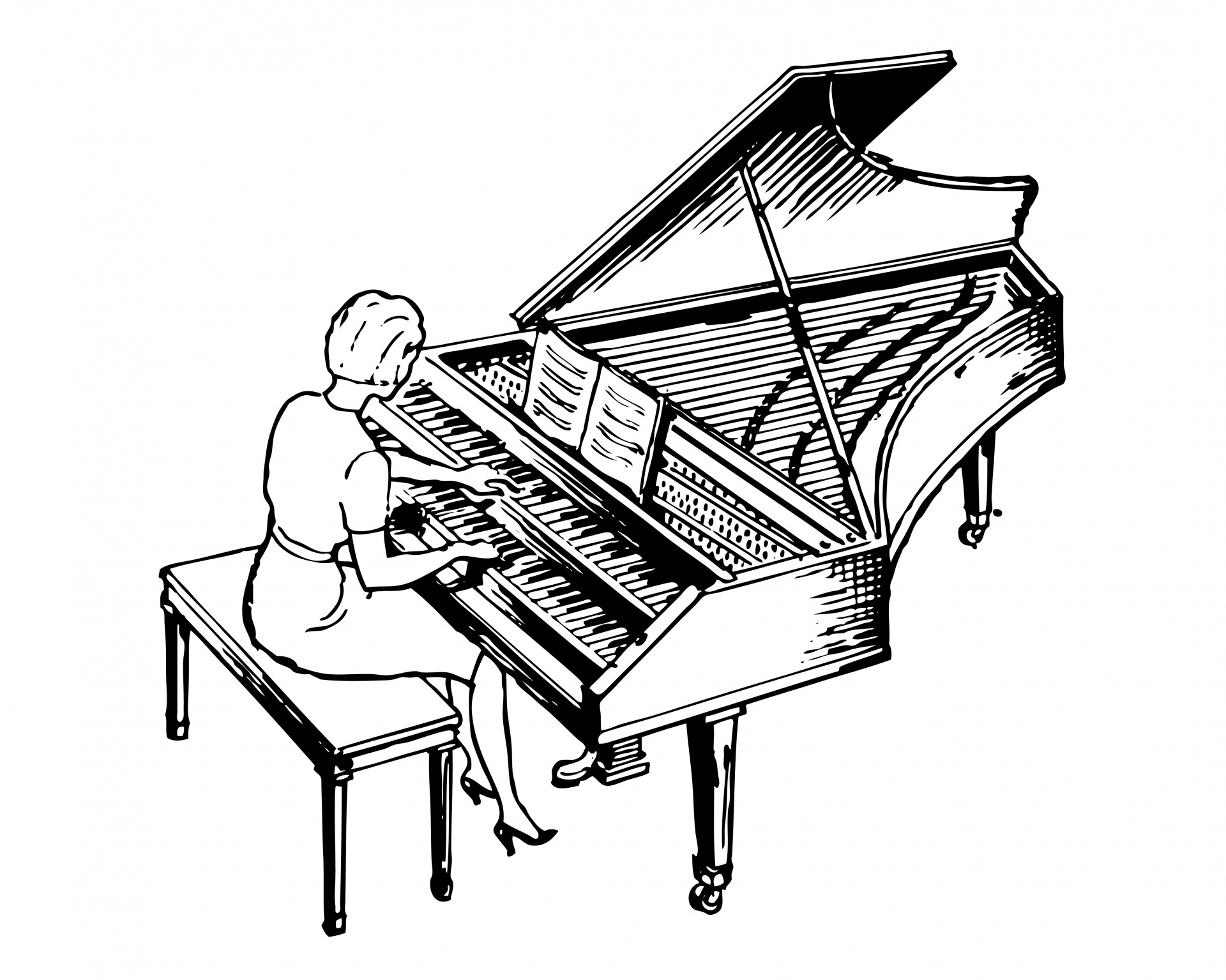 how to draw a grand piano grand piano musical instrument vector clipart stock vector piano a to grand draw how