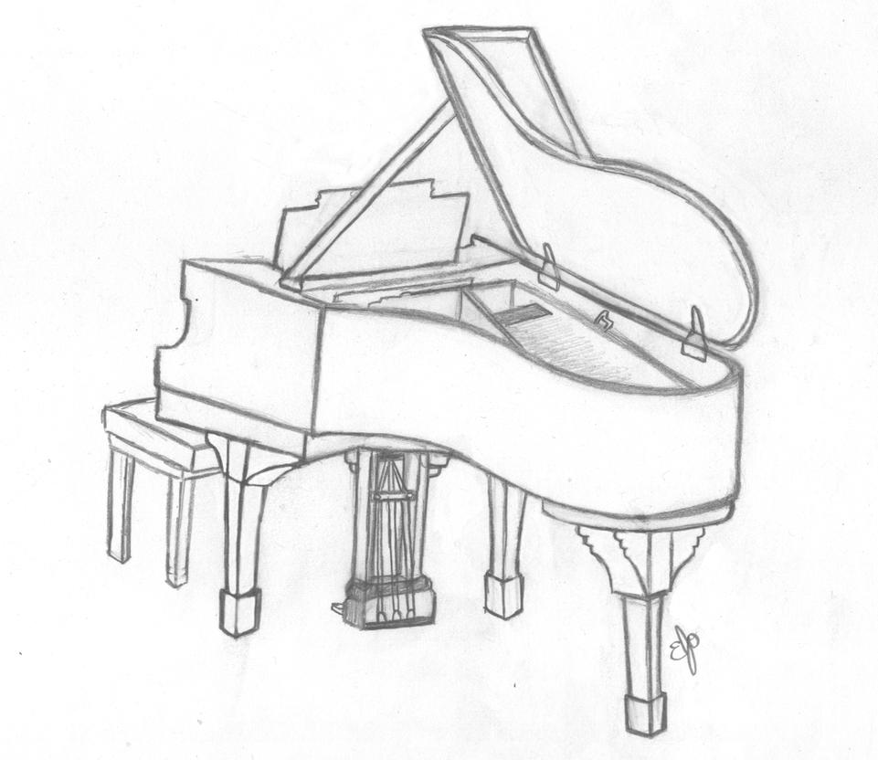 how to draw a grand piano kh daily drawing daily drawing week 17 piano 5 grand piano a grand draw how to