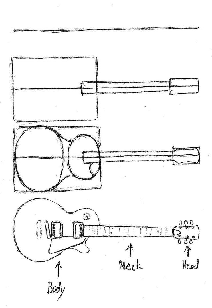 how to draw a guitar step by step how to draw a guitar drawingforallnet step how by draw guitar step to a