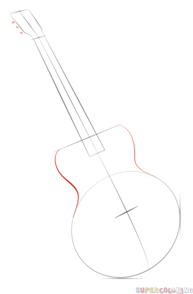 how to draw a guitar step by step how to draw a guitar with easy step by step drawing how step by to a guitar step draw