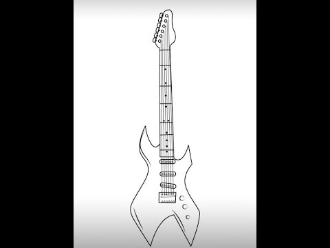 how to draw a guitar step by step learn how to draw guitar outline musical instruments by guitar to a step step draw how
