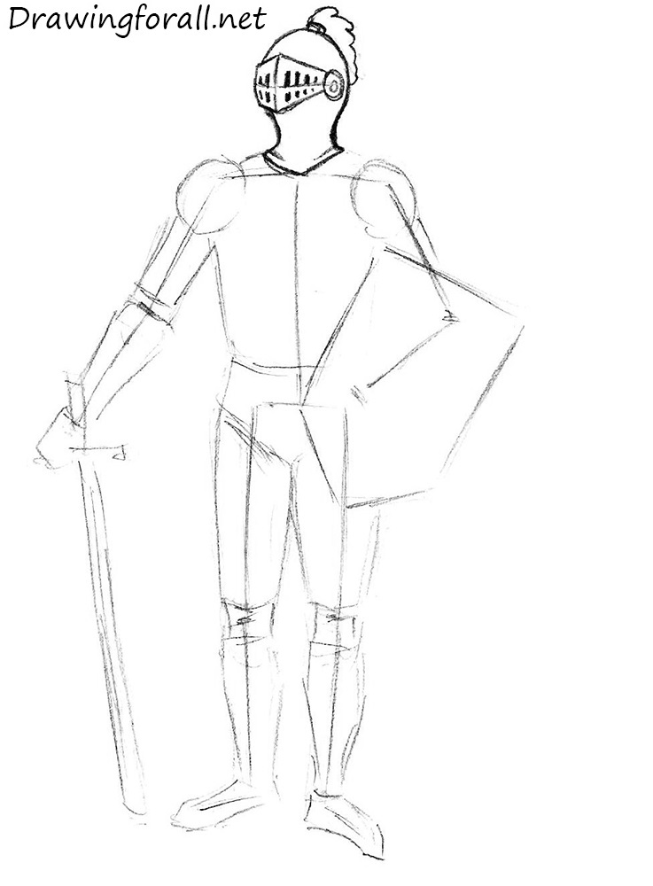 how to draw a knight helmet step by step how to draw a knight for beginners drawingforallnet how step draw knight to helmet step by a