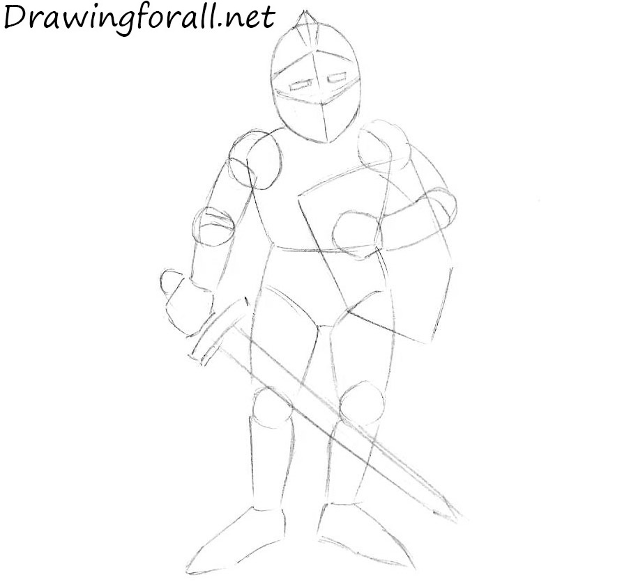 how to draw a knight helmet step by step how to draw a knight for beginners drawingforallnet to helmet step how by draw step knight a