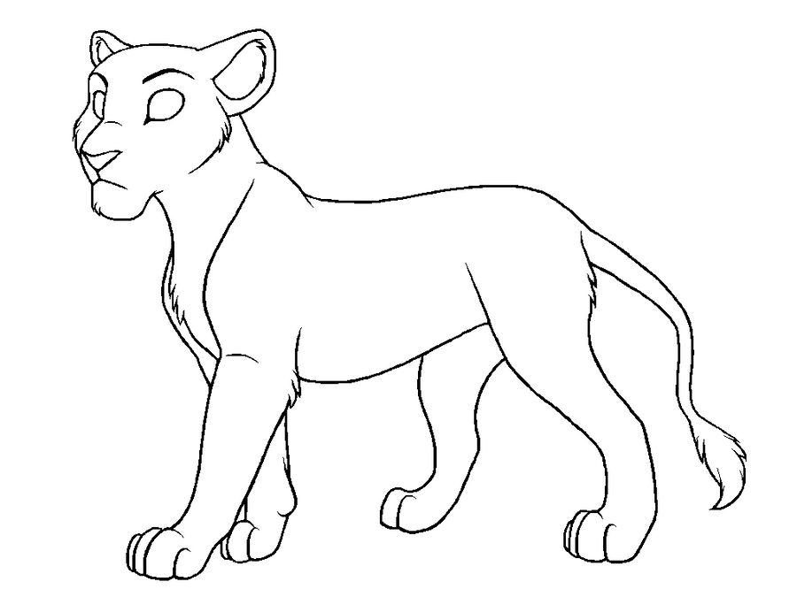 how to draw a lioness lioness coloring page free printable coloring pages a to lioness draw how