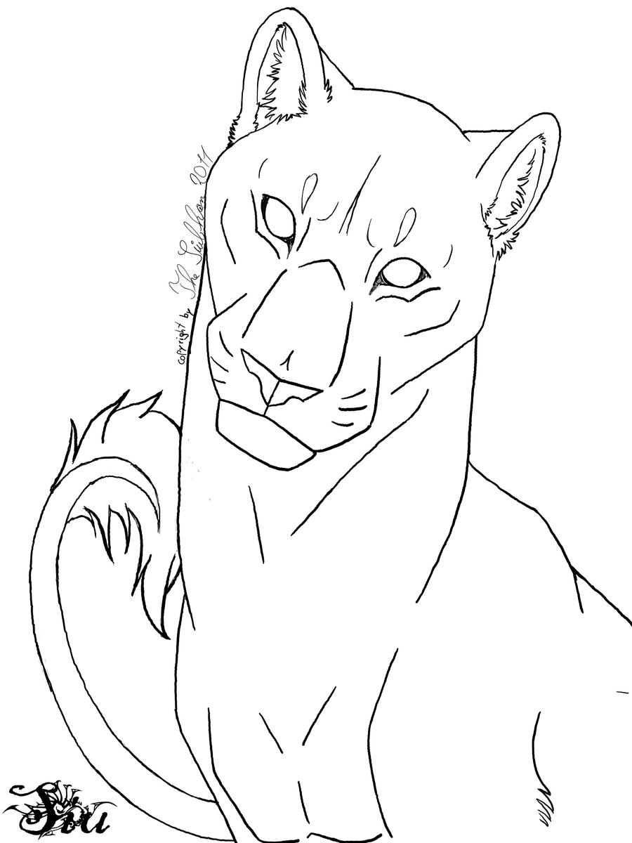 how to draw a lioness lioness lineart by thesiubhan on deviantart how draw a lioness to