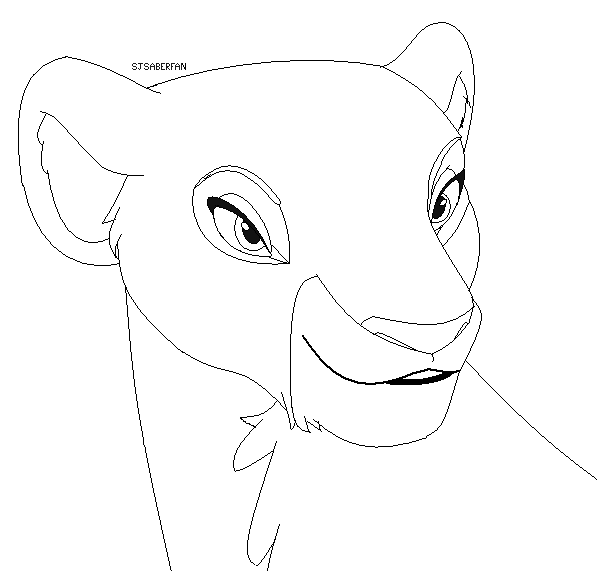 how to draw a lioness lioness lineart by thesiubhan on deviantart to how lioness draw a