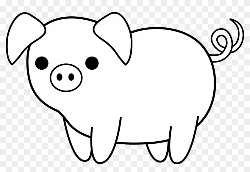 how to draw a pig cute pig drawing at paintingvalleycom explore to pig how a draw