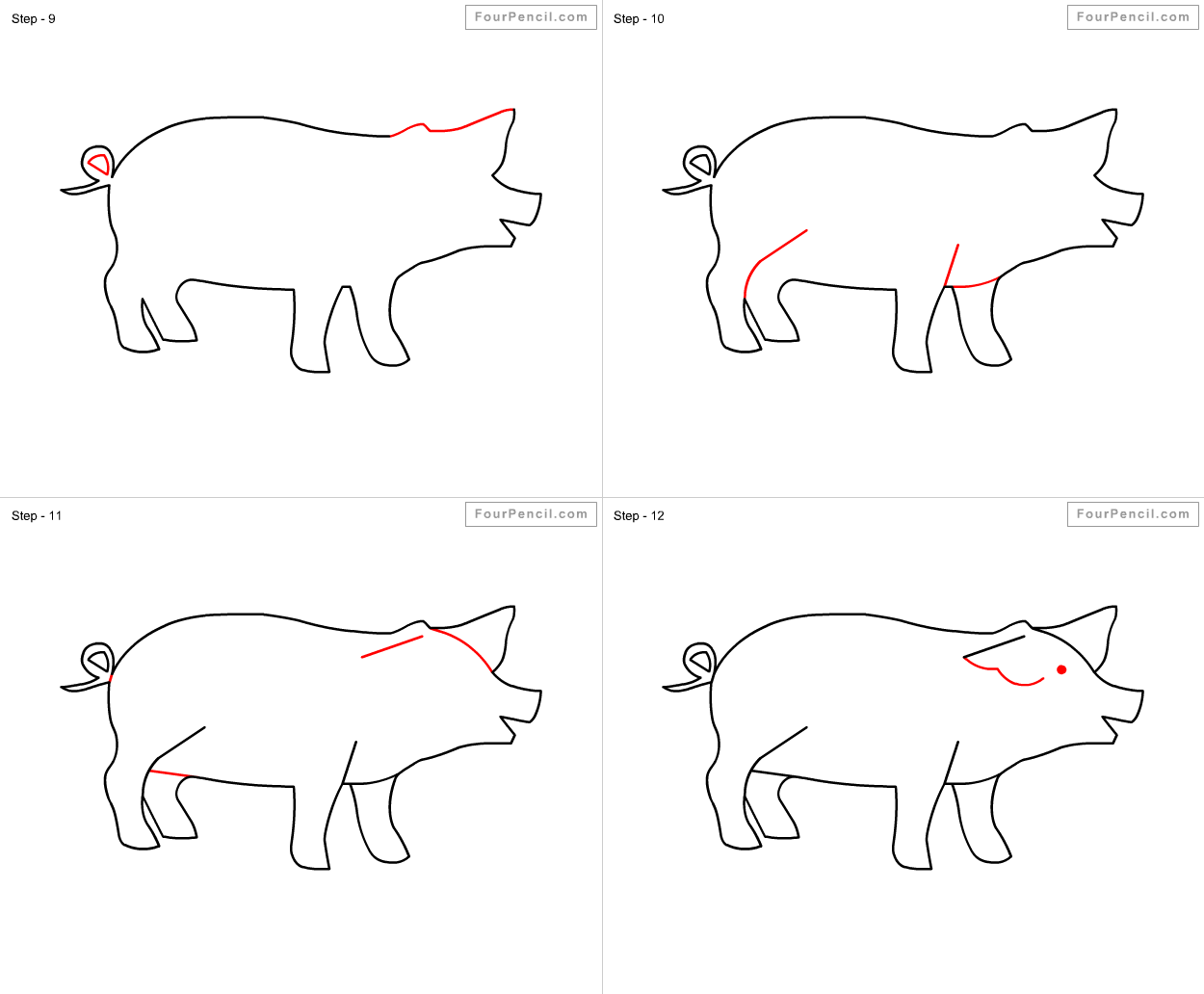 how to draw a pig draw pigs clipart best pig to how draw a