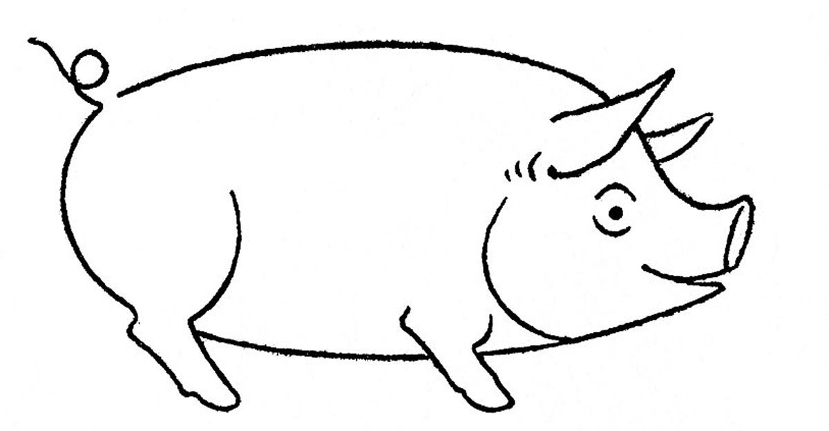 how to draw a pig fpencil how to draw pig for kids step by step how to a pig draw