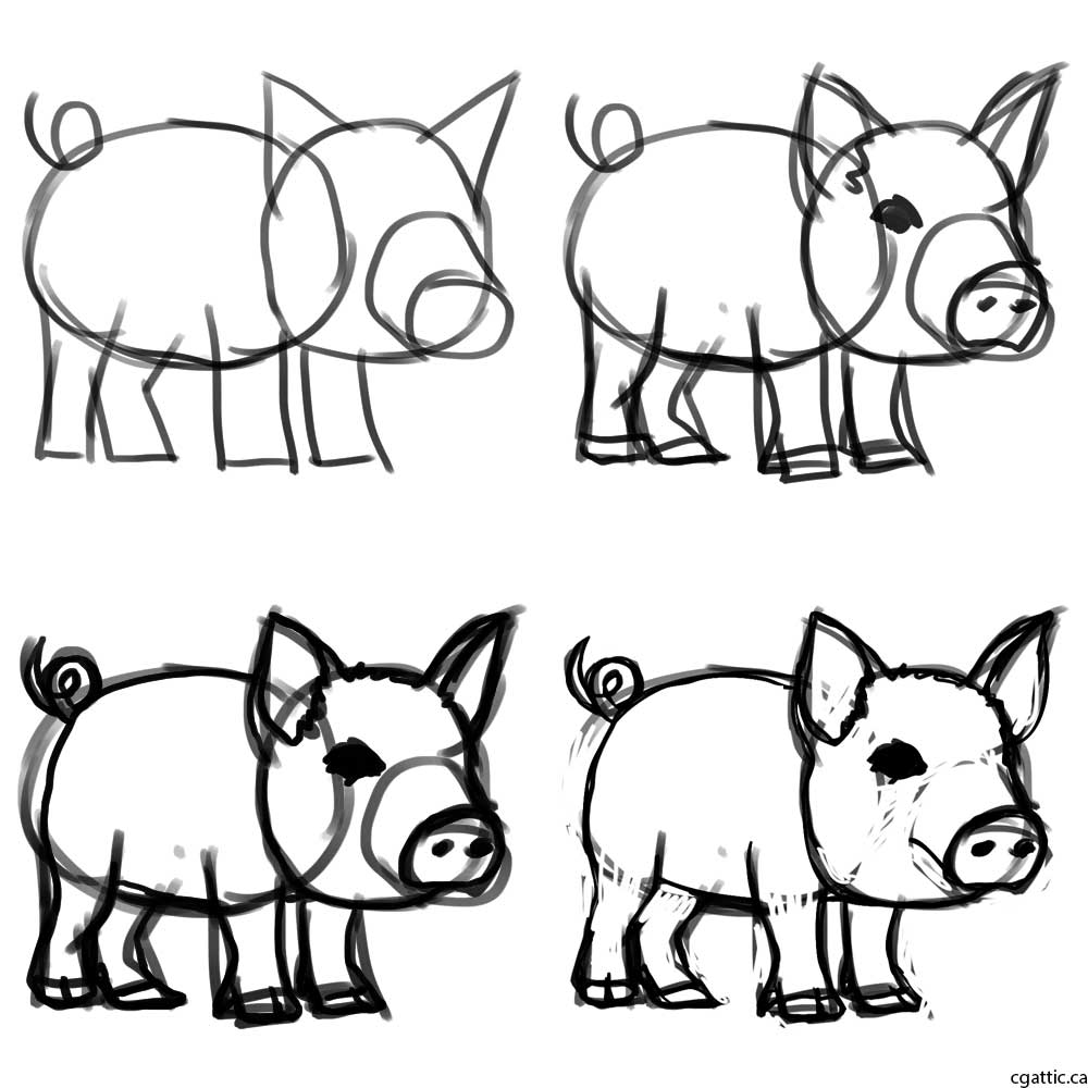 how to draw a pig how to draw a pig to draw a pig how