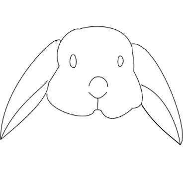 how to draw a rabbit face how to draw a bunny face easy drawing art how rabbit draw face a to