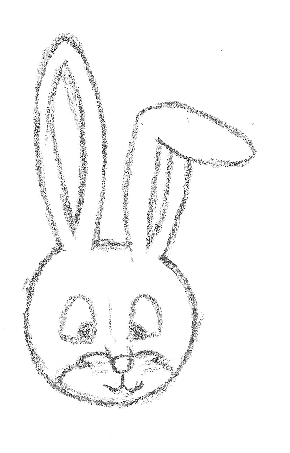 how to draw a rabbit face how to draw a rabbit face easy drawing art ideas rabbit a draw to how face