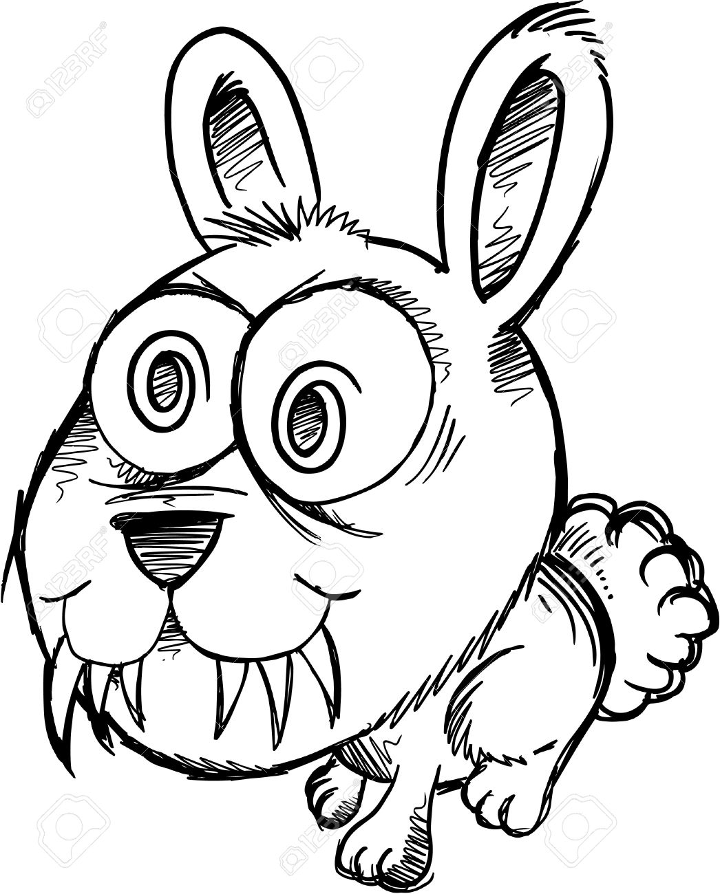 how to draw a rabbit face rabbit face drawing at getdrawings free download rabbit draw to how a face