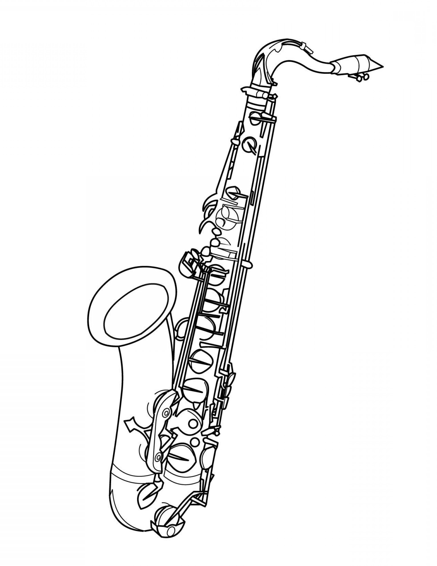 how to draw a saxophone easy 11119046 a sketch brass musical instrument saxophone tenor saxophone a draw to easy how