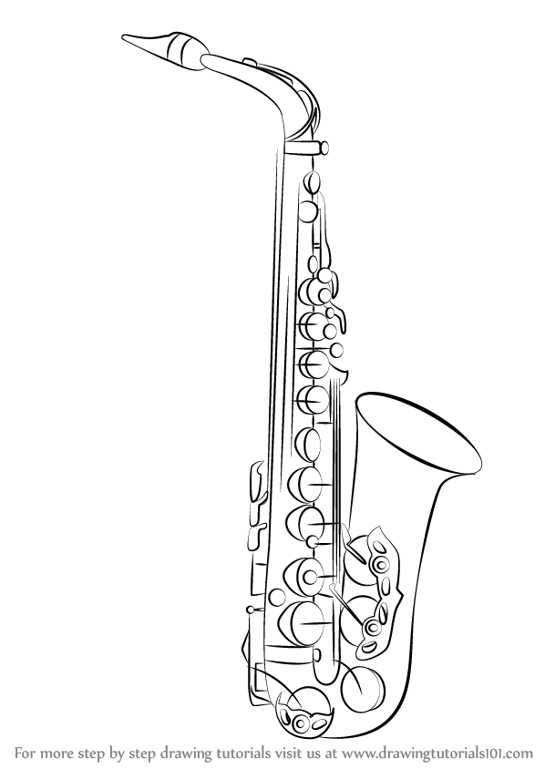 how to draw a saxophone easy 17 saxophone coloring pages printable coloring pages how easy a to draw saxophone