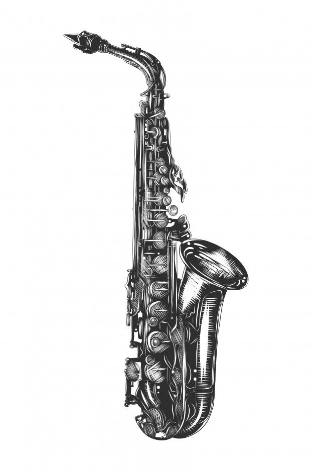 how to draw a saxophone easy clarinet clipart drawn clarinet drawn transparent free a how easy to draw saxophone