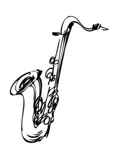 how to draw a saxophone easy hand drawn sketch of saxophone in monochrome how to draw easy draw to a saxophone how