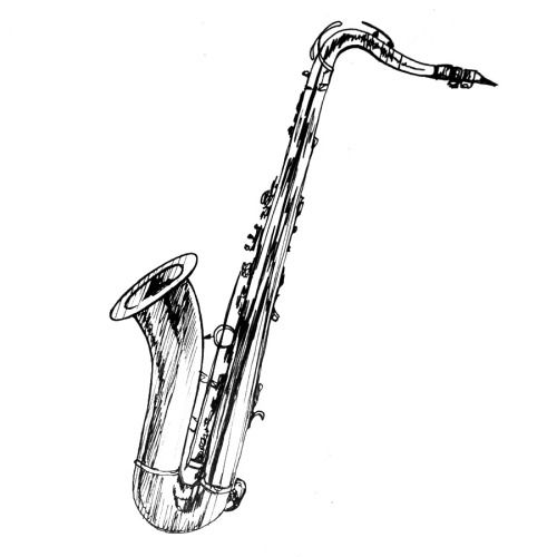 how to draw a saxophone easy saxophone drawing clipart best a to easy how draw saxophone