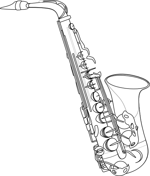 how to draw a saxophone easy saxophone drawing free download on clipartmag how draw to a saxophone easy