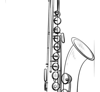 how to draw a saxophone easy saxophone saxophon tattoo saxophon musikinstrumente draw a saxophone how to easy