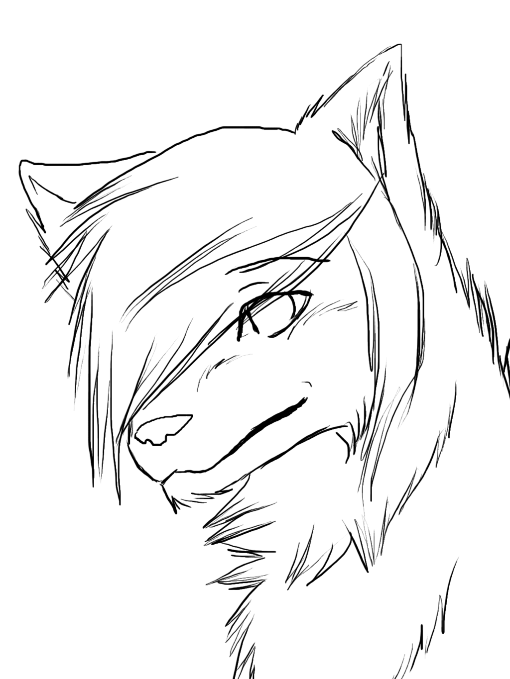 how to draw a snow wolf easy to draw anime wolf google search anime wolf snow a wolf how draw to