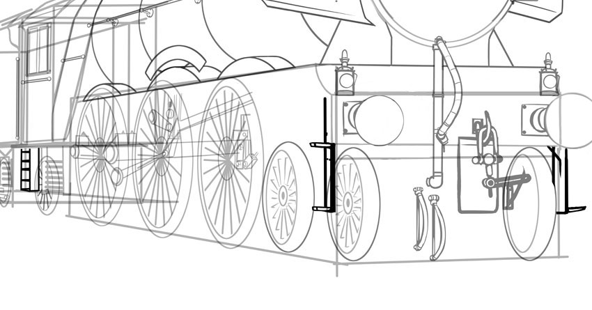 how to draw a steam engine train how to draw a steam train by mrjoj on deviantart engine to steam how a draw train