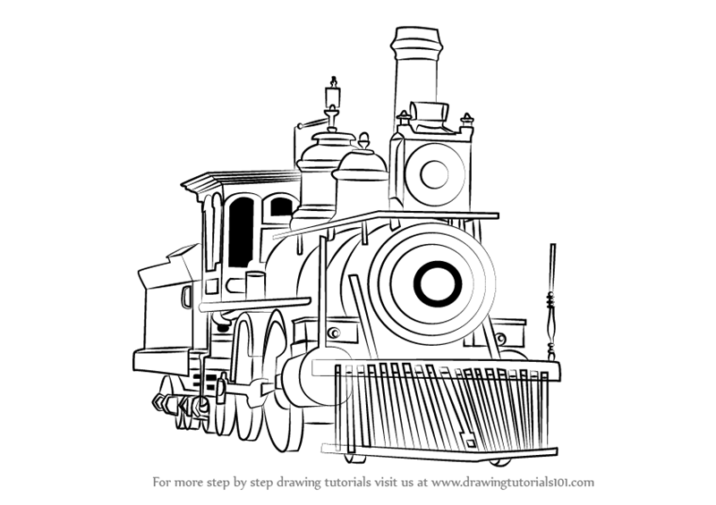 how to draw a steam engine train how to draw a train step by step 4 train drawing train engine steam how train to a draw