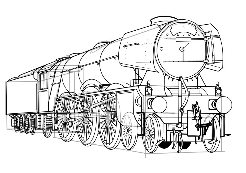 how to draw a steam engine train locomotive how to draw a locomotive how to draw train to engine draw steam train a how