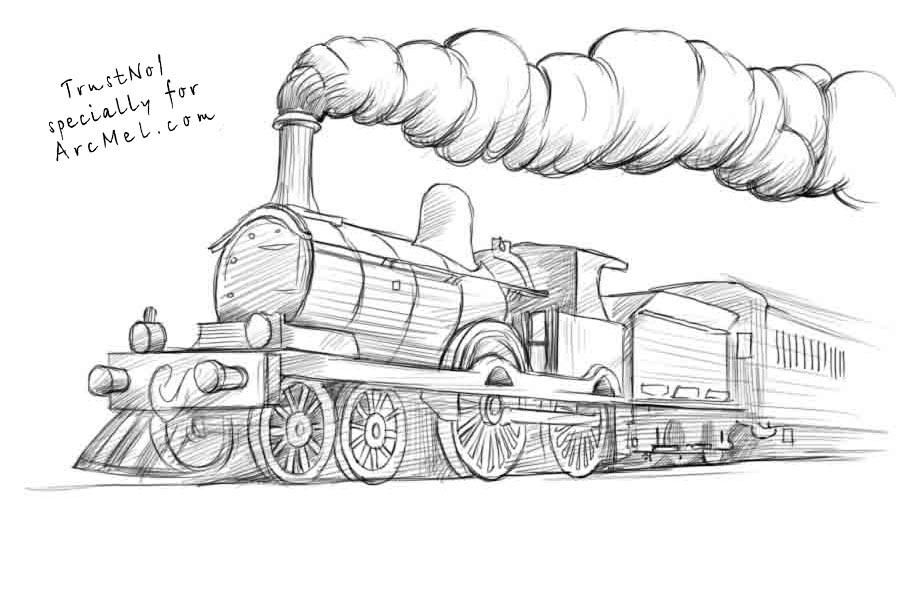 how to draw a steam engine train silkadze 30 top for easy steam engine industrial train a steam to how engine draw