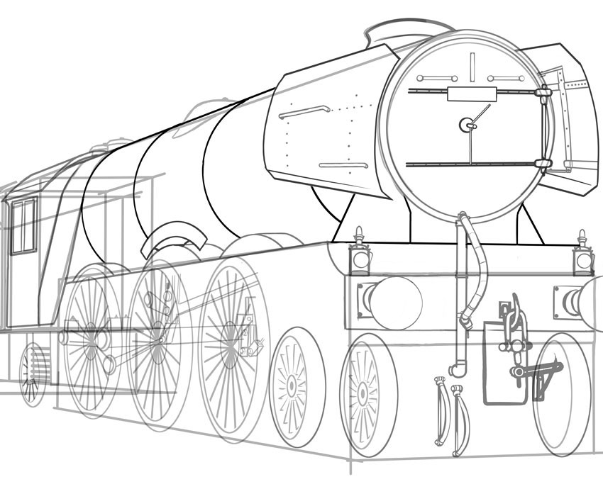 how to draw a steam engine train steam engine blueprint google search wooden toys plans train to how engine draw steam a