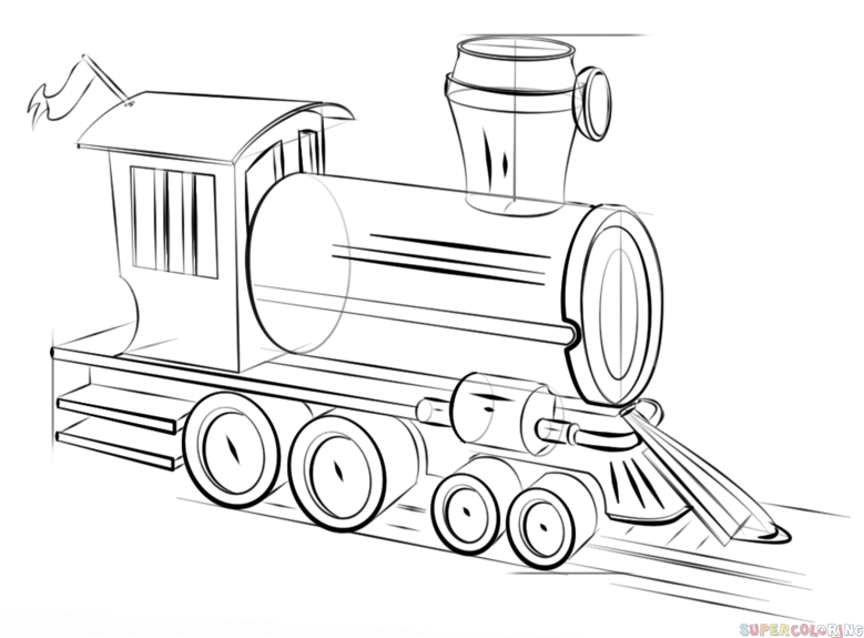 how to draw a steam engine train steam locomotive drawing at getdrawings free download a steam to draw engine train how