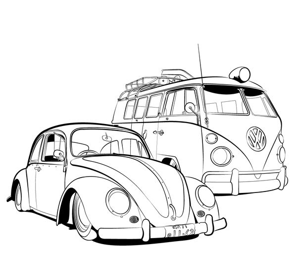how to draw a volkswagen bus hippie bus drawing bus drawing vw bus van drawing how draw bus volkswagen to a
