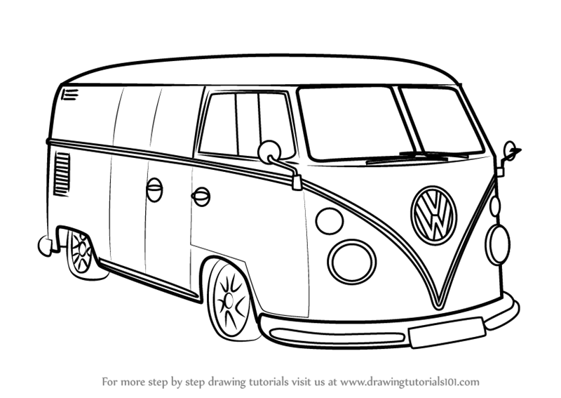 how to draw a volkswagen bus sandy in 2019 graphic design bus crafts bus art vw bus how bus a to volkswagen draw