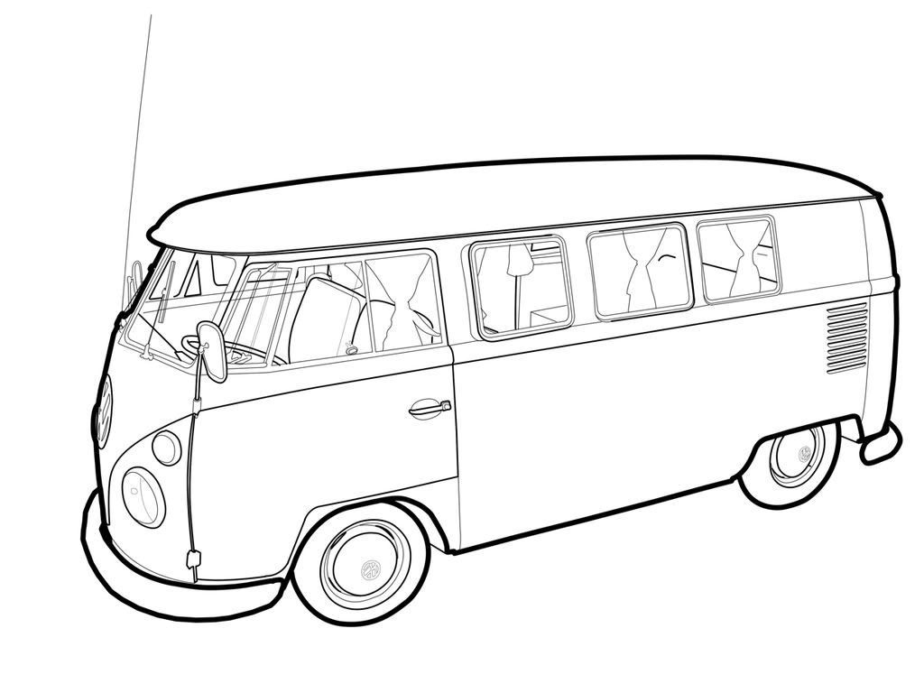 how to draw a volkswagen bus vw bus drawings fine art america to draw a how bus volkswagen
