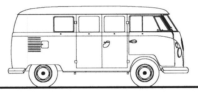 how to draw a volkswagen bus vw bus drawings vw bus vw bus t2 volkswagen bus volkswagen a to draw how bus