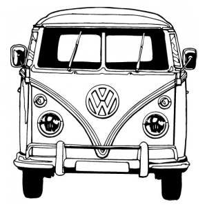 how to draw a volkswagen bus vw bus line drawing at paintingvalleycom explore draw volkswagen to bus how a
