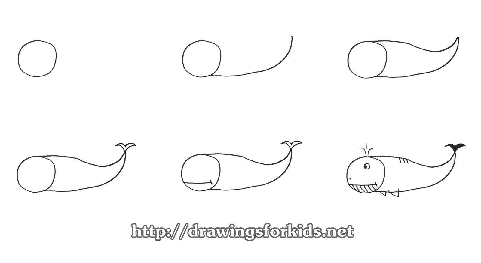 how to draw a whale step by step how to draw a whale for kids drawingsforkidsnet to how step a by step draw whale